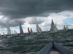 'Sea of Sails 3' Under Dark Clouds! - 2013 Rolex Fastnet Race Start
