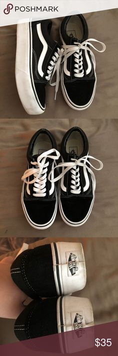Platform Old Skool Vans Excellent Condition These trendy sneakers are in excellent condition and have only been worn a handful of times. Vans Shoes Athletic Shoes