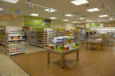 All areas covered: The health and wellbeing section at the new-look Tesco, which aims to cater to customers' every need