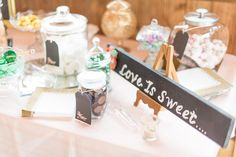 """""""Love is sweet"""" rustic candy bar"""