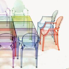 Outlet 4 sedie Kartell Louis Ghost trasparenti cristallo | Craft ...