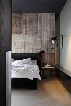 Contemporary Masculine Bedroom - Wall treatment.