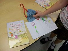 Attach a graphic of a character from a book. The children retell the story in a mini-book