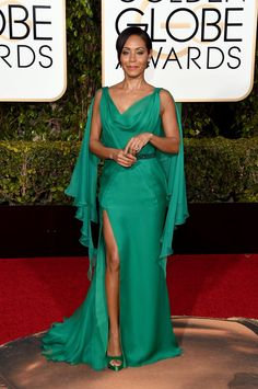 jada pinkett smith golden globes 2016 red carpet