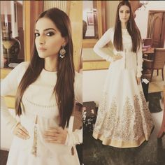 Sonam Kapoor In Rohit Bal White Dress Prem Ratan Dhan Payo 2015