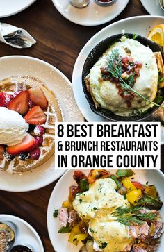 A comprehensive list of the best breakfast & brunch restaurants in orange county from a local Breakfast And Brunch, Brunch Menu, Brunch Recipes, Orange County Restaurants, California Restaurants, California Food, Southern California, Orange County California, Best Brunch Places