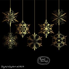 GOLD Christmas Snowflakes, Snowflakes ball, digital christmas ball, digital snowflake, golg snowflakes, Christmas clipart, xmas ball 0309 BUY ANY 3 GET 1 FREE clipart! Please check out my Shop Policy for more details www.etsy.com/shop/MSweetboutique/policy You will receive: *7 clip