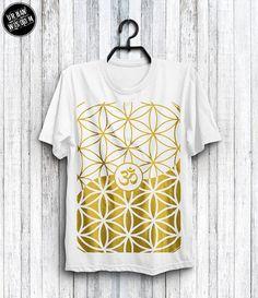 2229f74d632080 Flower Tree Seed Of Life Yoga Shirt Gifts Sacred Geometry Boho Yin Yang Om  Mandala Boho Festival Goa Psychedelic Men Clothing