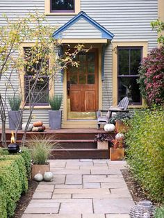 •In a Month......Build a walkway......Well-designed walkways make your home feel warm and inviting. For a dramatic improvement to a straight concrete path, replace it with a contoured one made of stone or brick.