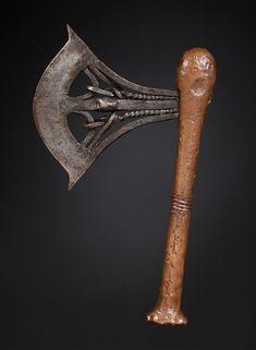Ceremonial Axe Kilonda, Songye, D.R. Congo :: ERTribal Tribal Art, Congo, Blacksmithing, Axe, Blacksmith Shop, Blacksmith Forge, Wrought Iron
