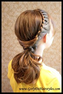 Girly Do Hairstyles: By Jenn: Drag Braid Updo Hairstyles Tutorials, Chic Hairstyles, Braided Hairstyles Updo, Little Girl Hairstyles, Pretty Hairstyles, Greek Hairstyles, Braided Ponytail, Braided Homecoming Hairstyles, Beautiful Braids