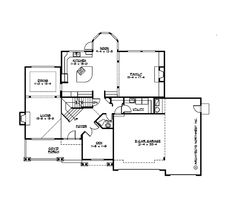Country Style House Plan - 4 Beds 3.5 Baths 4415 Sq/Ft Plan #132-146 Main Floor Plan - Houseplans.com