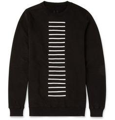Rick Owens - DRKSHDW Striped Cotton-Jersey Sweatshirt | MR PORTER from MR PORTER