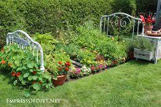 Make a Bed Frame Veggie Garden - Empress of Dirt