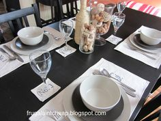 Frugal Ain't Cheap: Informal and elegant table setting