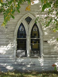 Country Church stain glass window
