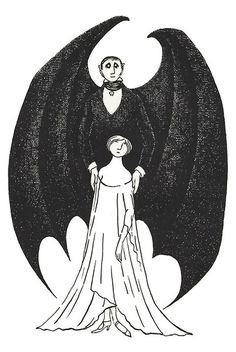 Items similar to DRACULA - Vampire - Edward Gorey - Gothic Home Decor - Gothic Artist - Goth - Gothic - Dark Art - Gothic Decor - Goth Decor - Gothic Art on Etsy Edward Gorey, Gothic Home Decor, Gothic Art, Illustrations, Illustration Art, Desenho Tattoo, Arte Horror, Gothic House, Macabre