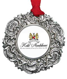 Christmas Ornament with @hotelmonteleone crest designed by @classiclegacy for the gift store.