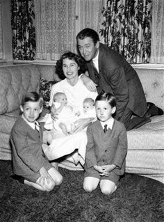 Jimmy Stewart with his family, 1951