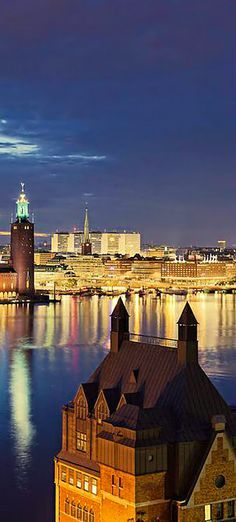 Stockholm by night Sweden.
