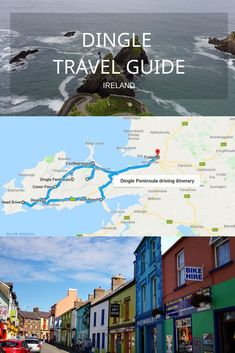 Travel guide to the Dingle peninsula, ireland with recommended itinerary and driving information to stay safe on the road