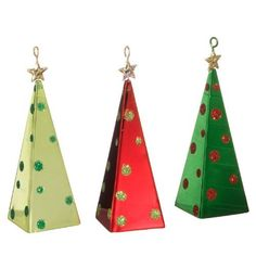 "Metal Christmas Tree Ornaments 4""  Price : $14.95 http://www.perfectlyfestive.com/RAZ-Imports-Metal-Christmas-Ornaments/dp/B008SKS6P0"