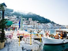 Gytheio: a breezy, charming harbor town with a history steeped in romance. (According to Homer, Gytheio was the first refuge of Helen and Paris during their elopement to Troy).