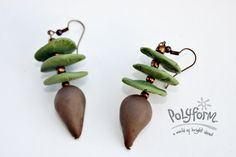 Sculpey Soufflé Forest Earrings from Polyform  ~ Polymer Clay Tutorials