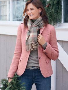 Talbots - Herringbone Shetland Blazer | Jackets and Blazers | Woman