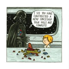 Darth Vader and Son. Looks hilarious! Coming out on Star Wars day. Star Wars Comics, Lego Star Wars, Star Wars Jokes, Star Trek, Star Wars Film, Star Wars Fan Art, Amour Star Wars, Darth Vader And Son, Star War 3