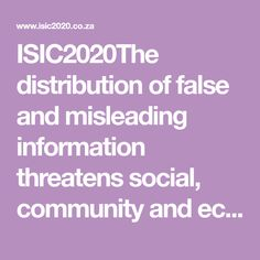 ISIC2020The distribution of false and misleading information threatens social, community and economic development. Libraries and information services need to intensify activities to highlight these threats and show communities how to check information for veracity and reliability. We can also benefit from paying more attention to the application of information behaviour research to practice based settings to enhance decision making and problem solving. ISIC2020 particularly welcomes… Economic Development, Fake News, Decision Making, Social Community, Submissive, Problem Solving, Libraries, Highlight, Behavior