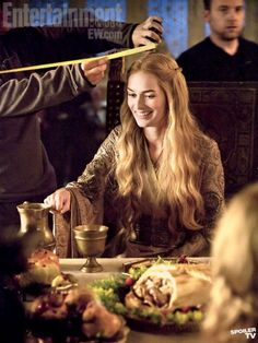 Cersei...for once, she's not smirking or looking smug. #GameofThrones