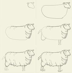 Как рисовать овечку.