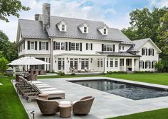 Colonial House Exteriors, Colonial Mansion, Colonial Exterior, Modern Farmhouse Exterior, Dream House Exterior, Dream House Plans, Dream Home Design, My Dream Home, Villa
