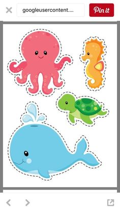 Under The Sea Clip Art, Ocean Digital ClipArt, Bright Cute Fishes, Sea Plants, S . Zoo Preschool, Preschool Activities, Preschool Centers, Under The Sea Theme, Under The Sea Party, Mermaid Birthday, Baby Birthday, Cute Fish, Ocean Themes