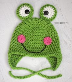 Crochet Frog Hat Pattern - Repeat Crafter Me