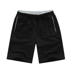 Summer New Casual Solid Color Knitted Moda Hombre Verano Loose Plus Size Elastic Waistband Zwemshort Heren