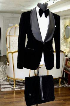 Black Tuxedo Suit, Black And White Suit, Tuxedo For Men, Groom Tuxedo, Mens Fashion Suits, Blazer Fashion, Mens Suits, Designer Suits For Men, Designer Tuxedo