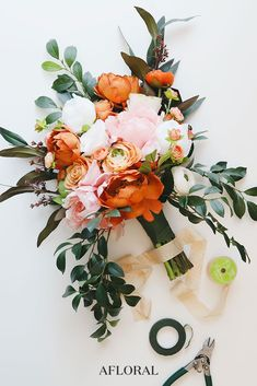 """""""Artificial vs Real Flowers for Your Wedding"""" by Southern Bride flowers orange Artificial vs. Real Flowers for Your Wedding Summer Wedding Bouquets, Diy Wedding Bouquet, Diy Wedding Flowers, Wedding Flower Arrangements, Bridal Flowers, Floral Wedding, Wedding Ideas, Fall Wedding, Church Wedding"""
