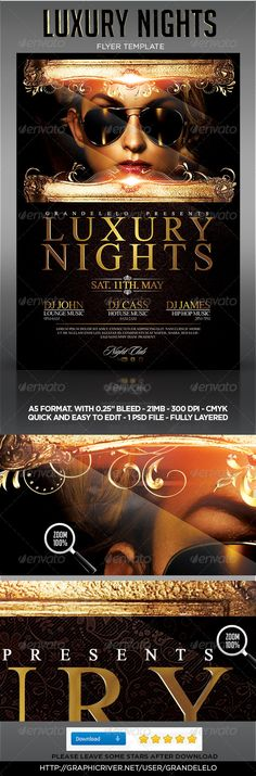 YOU CAN DOWNLOAD THE TEMPLATE HERE:  http://graphicriver.net/item/luxury-night-party-flyer-template/4630203?ref=grandelelo