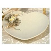 Europa collection Heart shaped porcelain candy dish with yellow porcelain roses: Min order 12 item(s)
