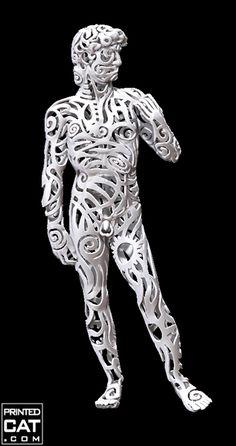 3D printed statue of Michelangelo's David by 3D artist and designer Valeriya Promokhova | 3D Printing Wonders
