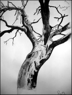"Saatchi Art Artist Irena Duka; Drawing, ""Dead Tree"" #art"