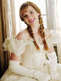 Princess Anna in her mother's wedding dress