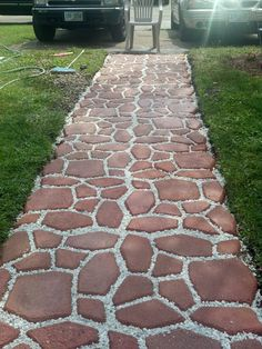 Unordinary Diy Pavement Molds Ideas For Garden Pathway To Try - Garden & Outdoor - Garden Floor Garden Floor, Garden Paving, Garden Paths, Diy Garden, Backyard Projects, Backyard Patio, Home Landscaping, Pavement, Amazing Gardens