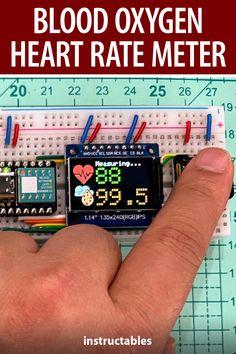 陳亮 shows how to use MAX30102, XIAO and a tiny display to build a blood oxygen and heart rate meter. #Instructables #electronics #technology #arduino #health Useful Arduino Projects, Arduino Controller, Circuit Diagram, Homemade Tools, Apple Watch Series, Heart Rate, Homesteading, Blood, Messages