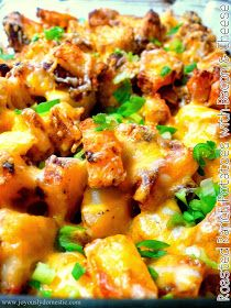 Roasted ranch potatoes with bacon & cheese. my kind of comfort food. Potato Dishes, Potato Recipes, Food Dishes, Side Dishes, Cheese Recipes, Main Dishes, Bacon Recipes, Recipes With Red Potatoes, Shrimp Recipes
