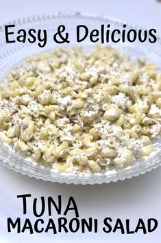 Tuna Macaroni Salad Try this easy dinner recipe! Perfect for a cold summer dinner. This is the best tuna macaroni salad and everyone will be begging for more! Best Tuna Salad Recipe, Easy Tuna Salad, Tuna Macaroni Salad, Pasta Salad, Macaroni Pasta, Tuna Recipes, Easy Salad Recipes, Good Healthy Recipes, Healthy Food