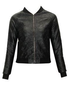 Black wave pattern bomber jacket by Morphe . Shop now: www.perniaspopups.... #morphe #jacket #clothing #chic #perniaspopupshop #shopnow #happyshopping