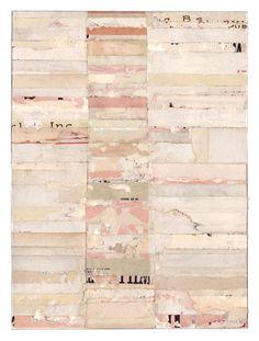 Lisa Hochstein, shades of pink, horizontal lines